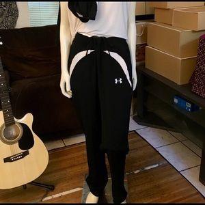 Under Armour Black & White Track Pants XL